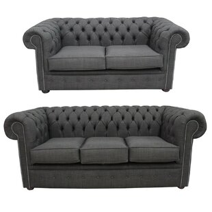 Mika Chesterfield 2 Piece Sofa Set By Marlow Home Co.