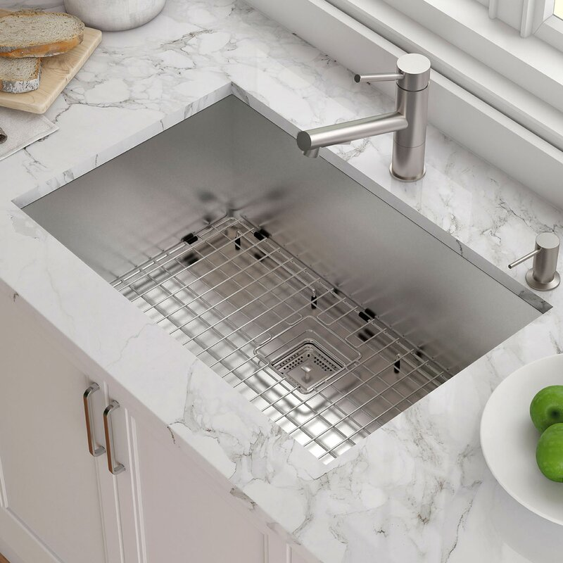 Pax 29 X 19 Undermount Kitchen Sink With Drain Embly