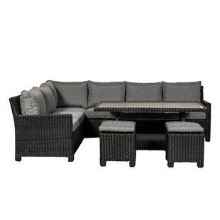 Sakath 6 Seater Rattan Corner Sofa Set By Sol 72 Outdoor