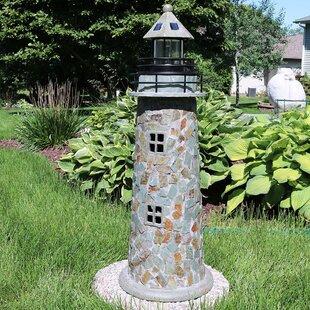 Caulkins Cobblestone Solar Led Lighthouse Statue