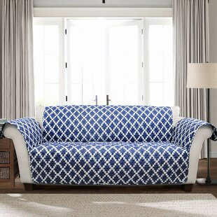 Winston Porter Wellow Ikat T-Cushion Sofa Slipcover