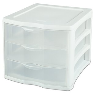 Sterilite 3 Drawer ClearView™ Storage Organizer (Set of 4)