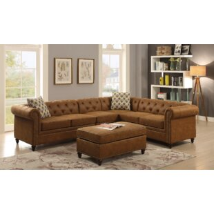 Gracie Oaks Faughil Sectional with Ottoman