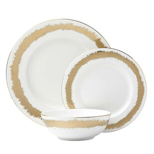 Casual Radiance Bone China 3 Piece Place Setting, Service for 1