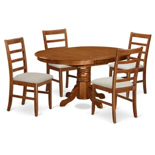 Emmaline 5 Piece Dining Set Alcott Hill