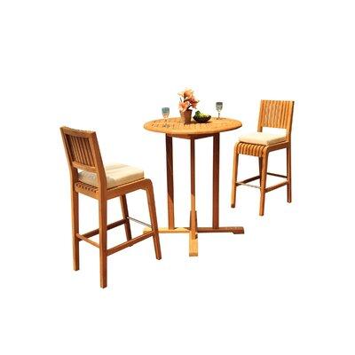 Mastin 3 Piece Teak Bar Height Dining Set by Rosecliff Heights Wonderful