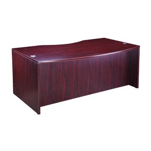 Pawlowski Light Bow Front Desk Shell