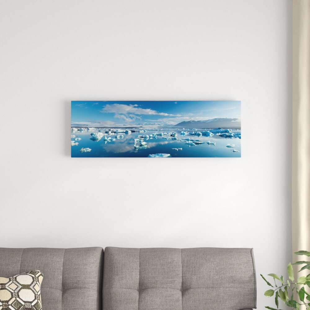East Urban Home Icebergs I Photographic Print On Wrapped Canvas Wayfair