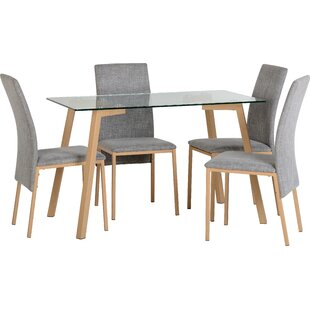Reba Dining Table and 4 Chairs  sc 1 st  Wayfair & Glass Table And 4 Chairs | Wayfair.co.uk