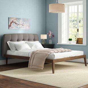 Upholstered Platform Bed By Angel Cerda