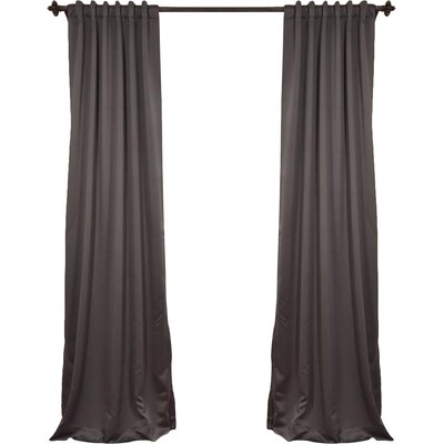 Alcott Hill Aldreda Extra Wide Solid Blackout Thermal Rod Pocket Single Curtain Panel Size per Panel: 120 L x 100 W, Color: Charcoal