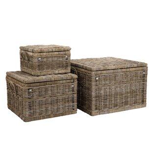 Wicker 3 Piece Laundry Set By Bay Isle Home