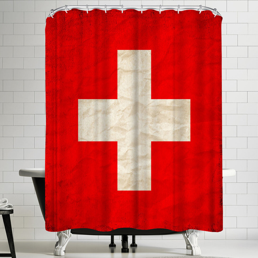 East Urban Home Wonderful Dream Switzerland Flag Single Shower Curtain Wayfair