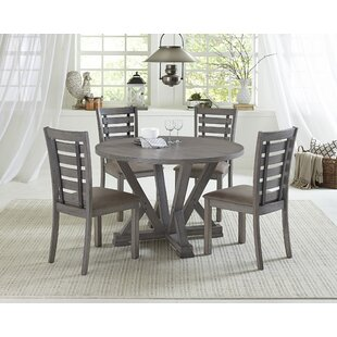 Mcwhirter 5 Piece Solid Wood Dining Set