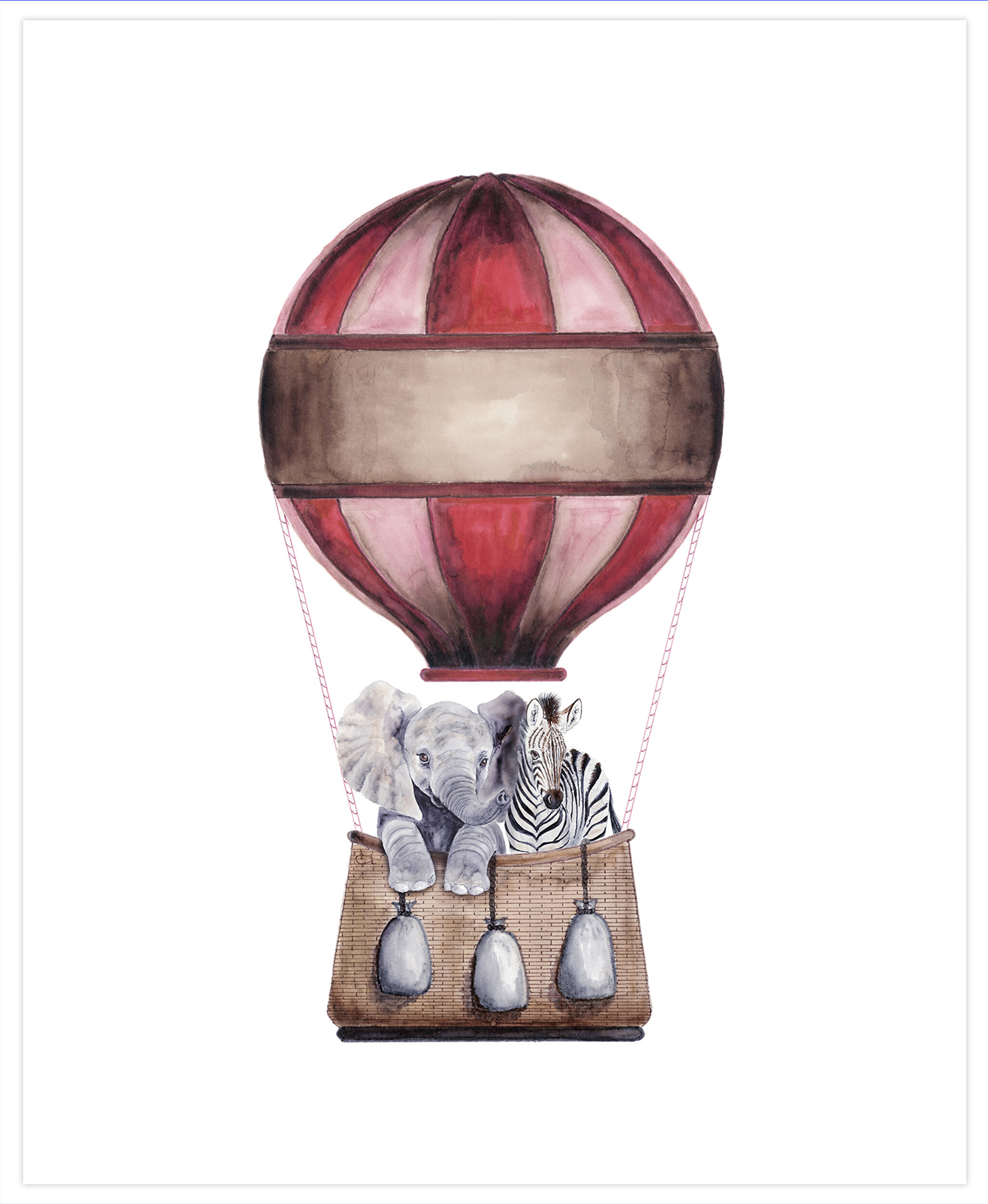Harriet Bee Mariario Hot Air Balloon Ride Paper Print Wayfair