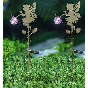 Winsome House Fairy Solar 1-Light Pathway Light (Set of 2)