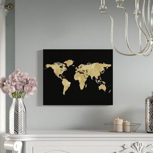 World Map Push Pin Wayfair - Iron world map wall art
