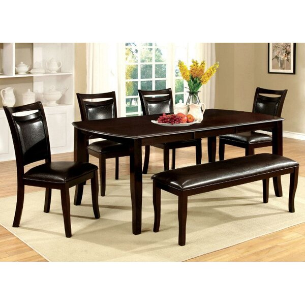 Red Barrel Studio Woollard Dining Table With 4 Side Chairs And Bench