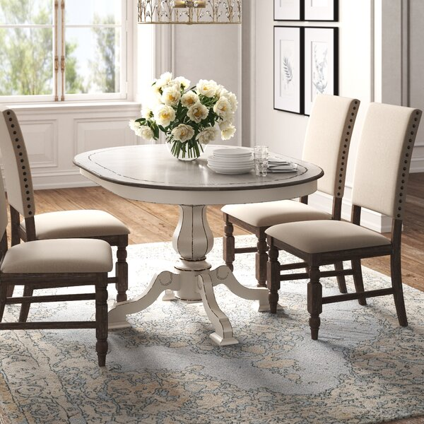 Kelly Clarkson Home Tiphaine Poplar Solid Wood Dining Table Reviews Wayfair
