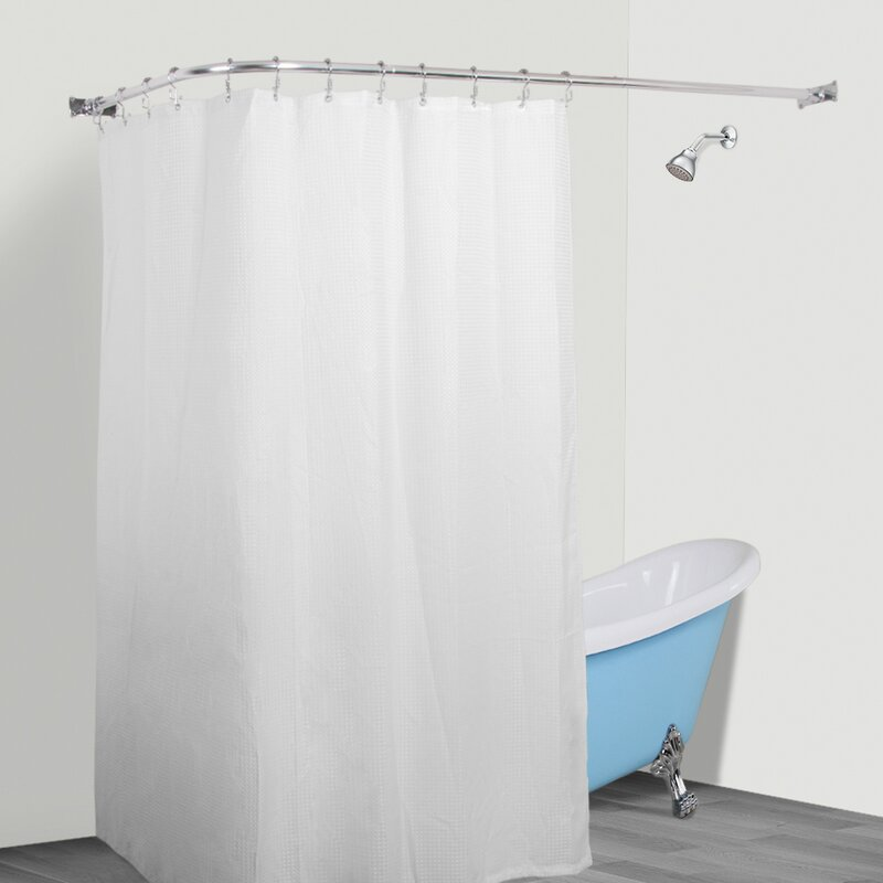 Aluminum Rustproof 66 L Shaped Fixed Shower Curtain Rod