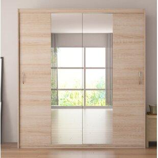 Brayden Studio Zanders Armoire with Mirror Sliding Doors