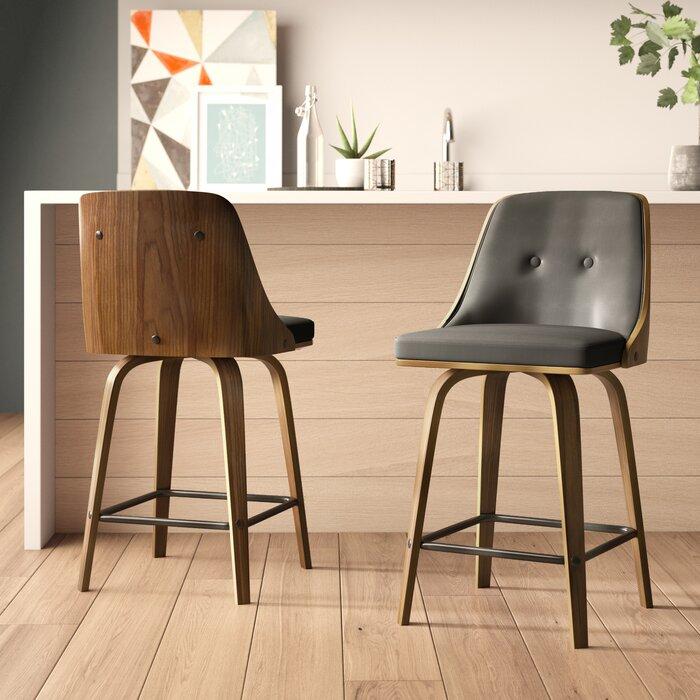 Superb Alexa 26 Swivel Bar Stool Theyellowbook Wood Chair Design Ideas Theyellowbookinfo