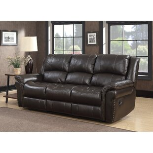 Everardo Leather Reclining Sofa