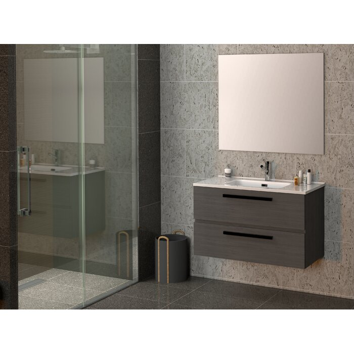 Reavis Bathroom 1000mm Wall Hung Single Vanity Unit