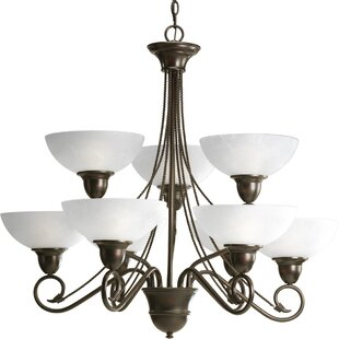 Fleur De Lis Living Adrienne 9-Light Shaded Chandelier