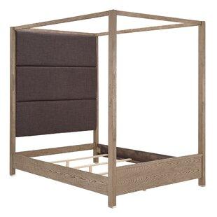 Poplar Upholstered Canopy Bed by Brayden Studio Cheap