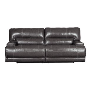 Thornhill Leather Reclining Sofa by Williston Forge