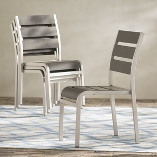 Galicia Stacking Patio Dining Chair (Set Of 4) by Brayden Studio Reviews