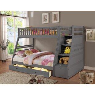 Walton Twin Over Full Bunk Bed with Drawers by Harriet Bee
