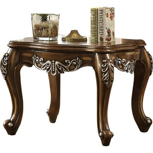 Beyer Fine Scrolled Work Wooden End Table by Astoria Grand