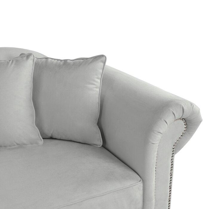 Poling Velvet Upholstered Chaise Lounge
