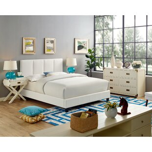 Steffens Queen Upholstered Panel Bed by Ebern Designs
