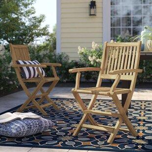 Brighton Folding Teak Patio Dining Chair (Set of 2)