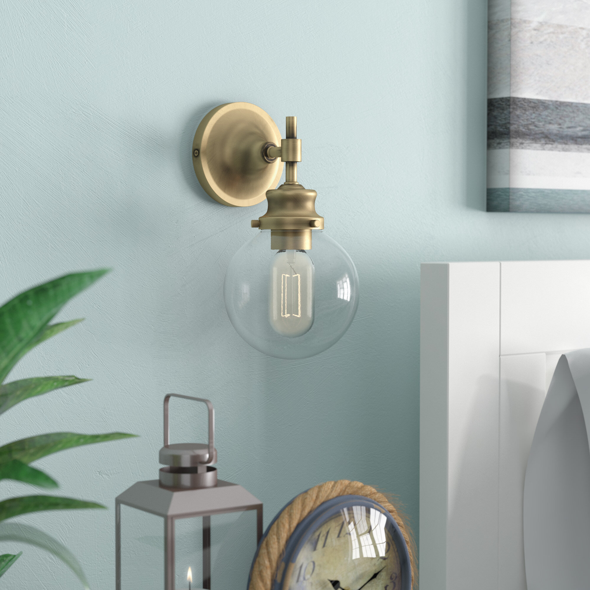 sconces kiven bell lighting vintage shopping glass cable iron bracket light one indoor outdoor wall decorative sconce online rustic lamps fixtures