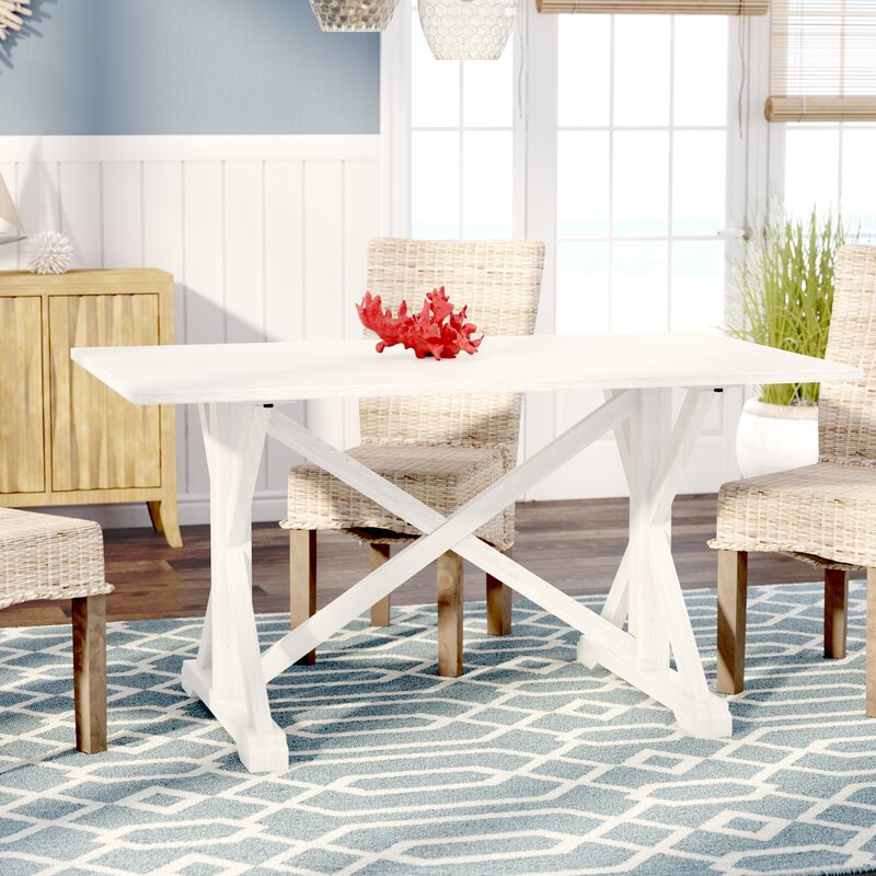 roeper distressed farmhouse dining table reviews birch lane
