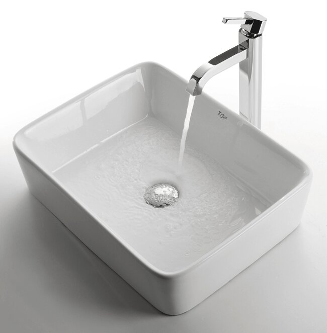 Ceramic Rectangular Vessel Bathroom Sink #farmsink #modernfarmhouse