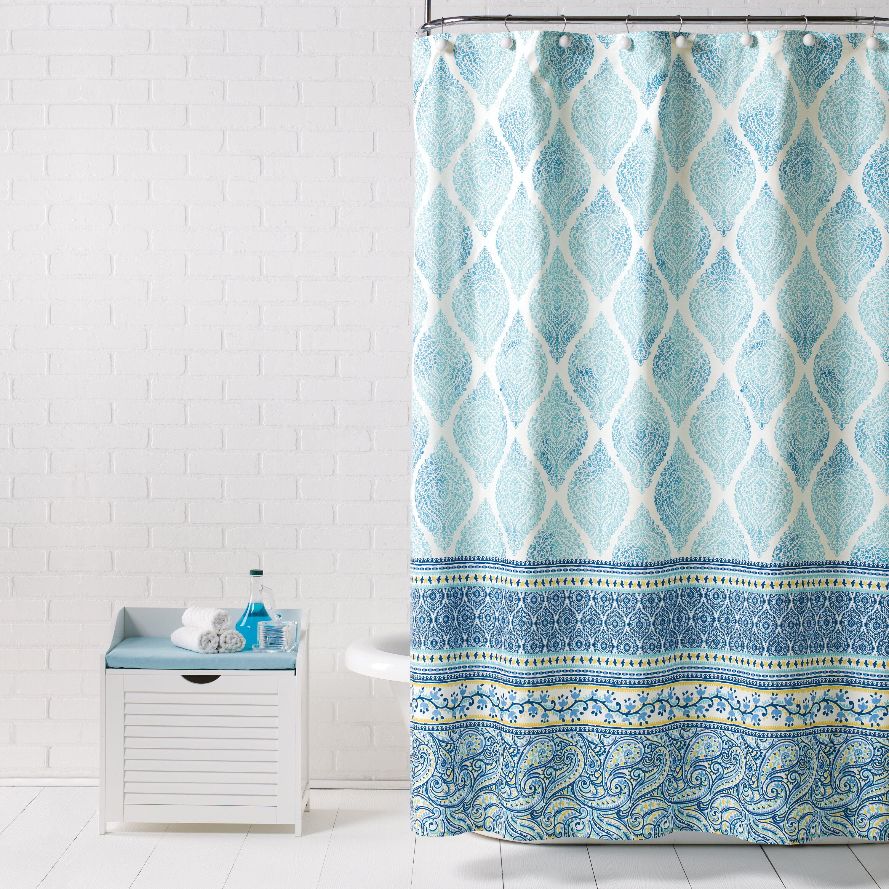 Bungalow Rose Vannoy Fabric Single Shower Curtain Reviews