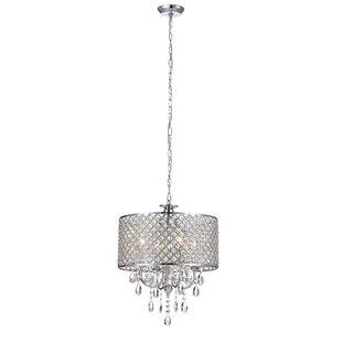 Aurore 4-Light Crystal Chandelier by Willa Arlo Interiors