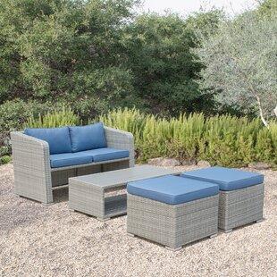 Ewart 4 Piece Sofa Set with Cushions