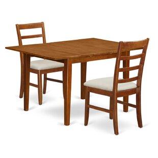 Lorelai 3 Piece Dining Set by Alcott Hill Comparison