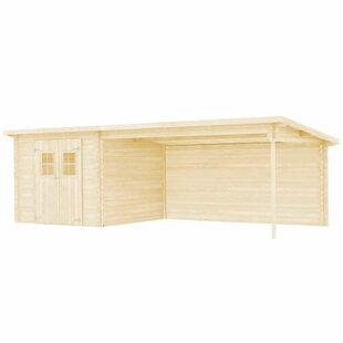 Mcneely 23.95 X 9.84 Ft. Log Cabin By Sol 72 Outdoor