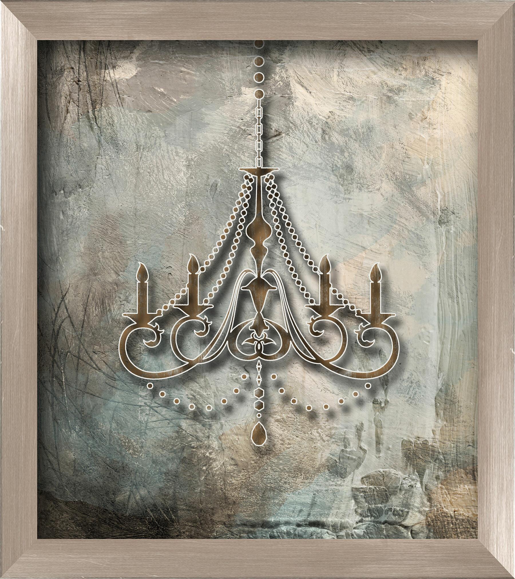 Ptm Images Chandelier Framed Graphic Art Wayfair