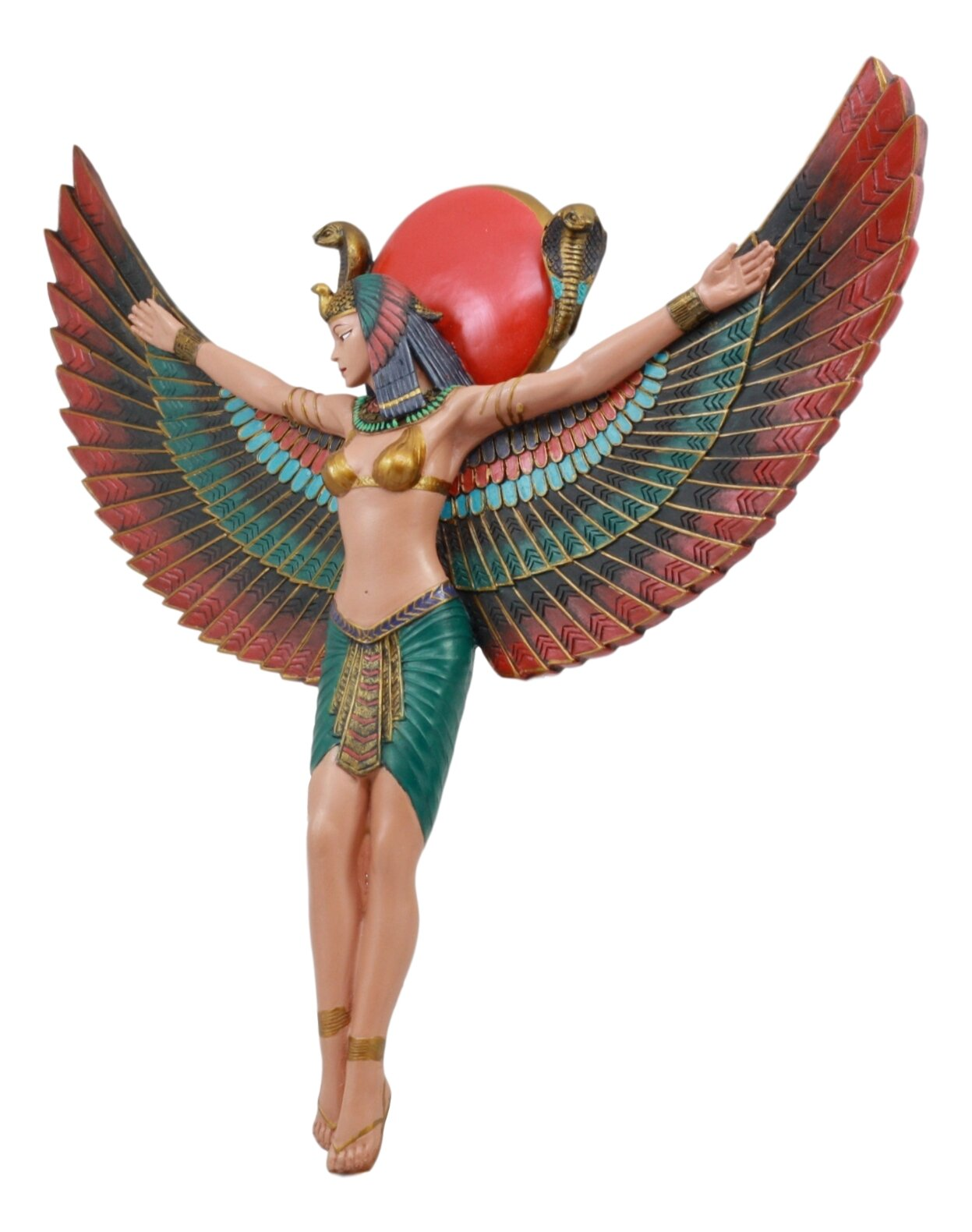 World Menagerie Ancient Egyptian Goddess Isis With Open Wings Protector The Kingdom Wall Decor Wayfair