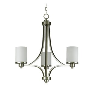 Iris 3-Light Shaded Chandelier by Whitfield Lighting