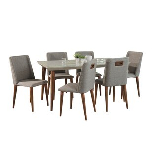 Lemington 7 Piece Solid Wood Dining Set