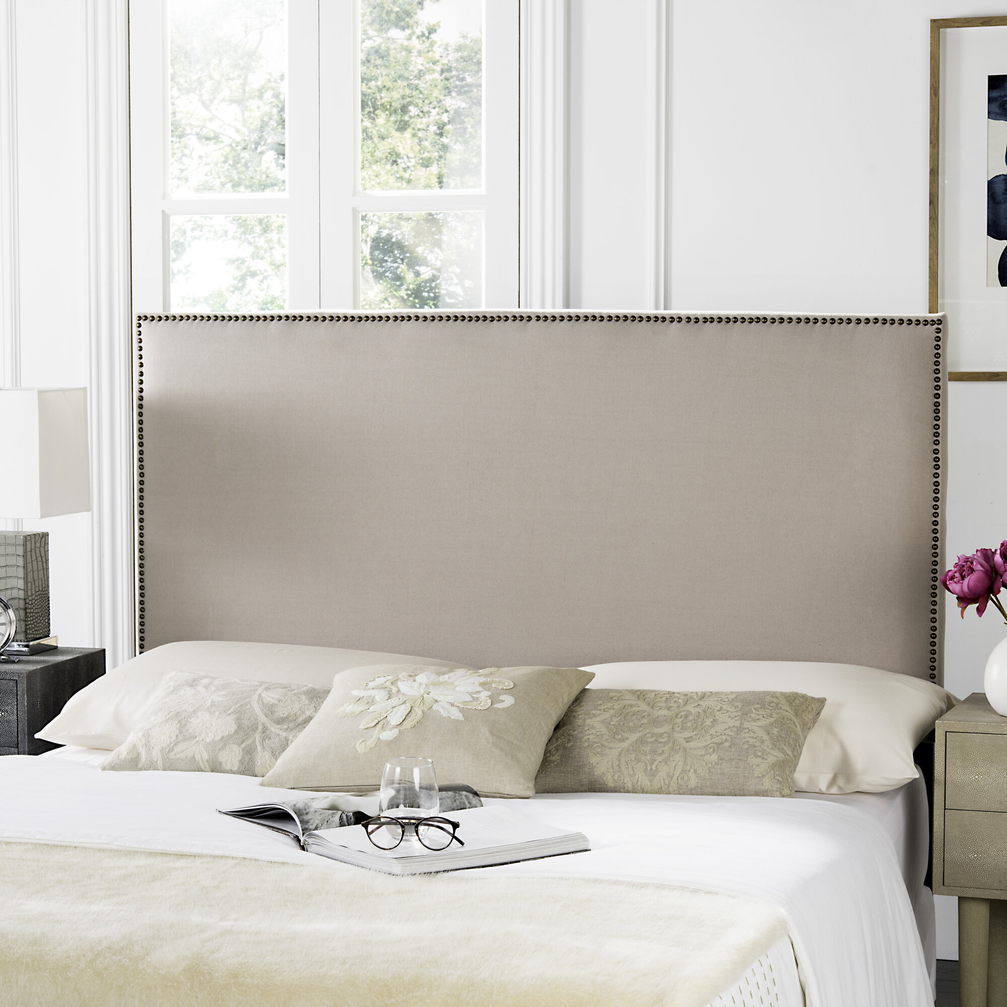 Wingback upholstered headboard Double Bed Cushion House Of Hampton Farringdon Upholstered Wingback Headboard Reviews Wayfair Wayfair House Of Hampton Farringdon Upholstered Wingback Headboard Reviews